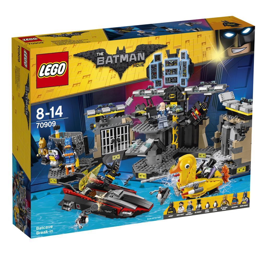 KLOCKI LEGO BATMAN MOVIE WŁAMANIE DO JASKINI BATMANA 70909