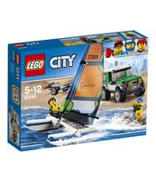 KLOCKI LEGO CITY GREAT VEHICLES TERENÓWKA 4X4 Z KATAMARANEM 60149
