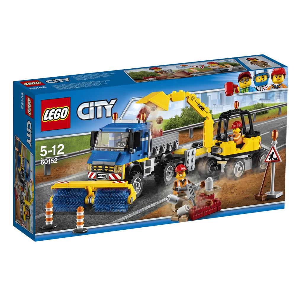 KLOCKI LEGO CITY GREAT VEHICLES ZAMIATACZ ULIC I KOPARKA 60152