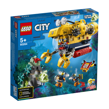 KLOCKI LEGO CITY OCEANS ŁÓDŹ PODWODNA BADACZY OCEANU 60264