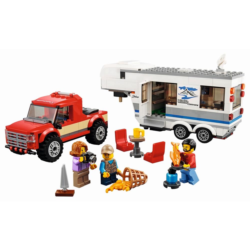 KLOCKI LEGO CITY PICKUP Z PRZYCZEPĄ 60182