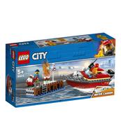 KLOCKI LEGO CITY POŻAR W DOKACH 60213
