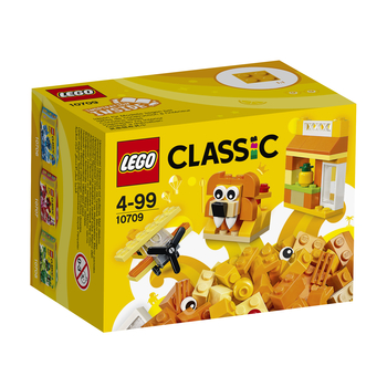 KLOCKI LEGO CLASSIC POMARAŃCZOWY ZESTAW KREATYWNY 10709