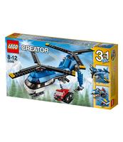 KLOCKI LEGO CREATOR HELIKOPTER Z DWOMA WIRNIKAMI 31049