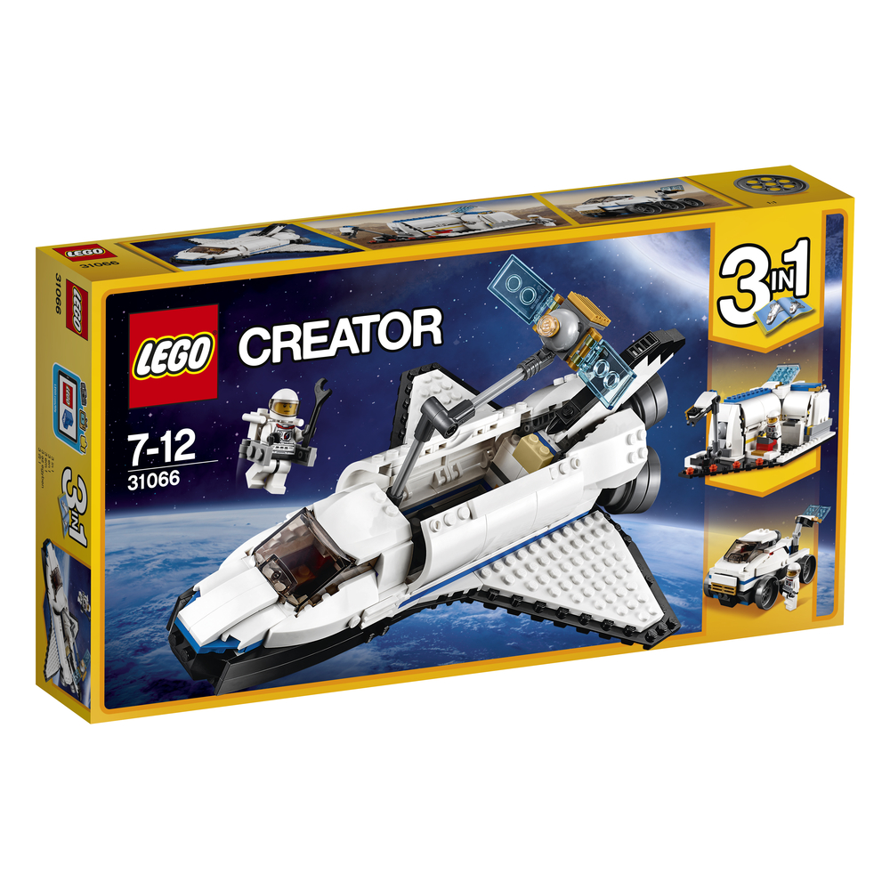 KLOCKI LEGO CREATOR ODKRYWCA Z PROMU KOSMICZNEGO 31066