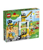 KLOCKI LEGO DUPLO TOWN ŻURAW WIEŻOWY I BUDOWA 10933
