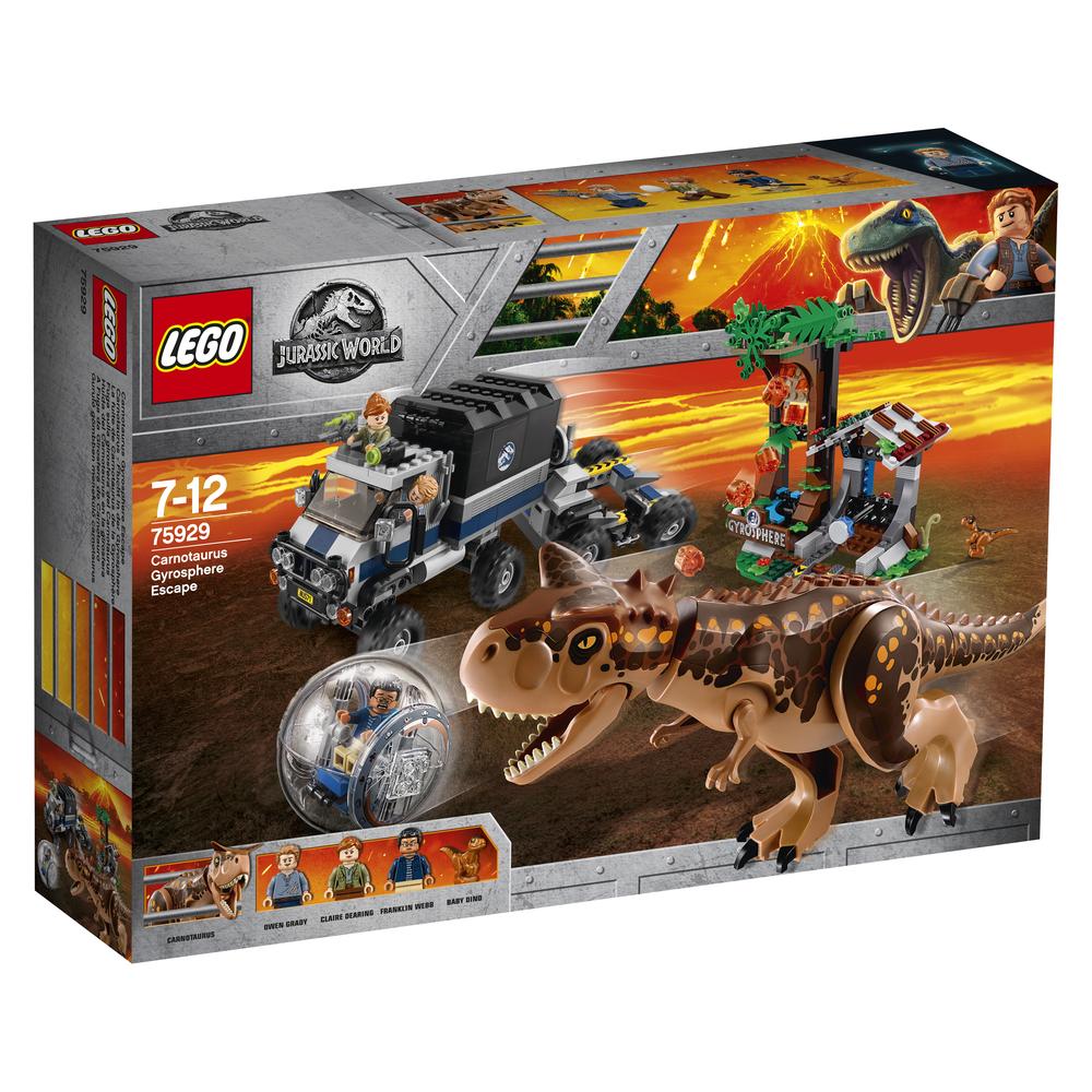 KLOCKI LEGO JURASSIC WORLD UCIECZKA PRZED KARNOTAUREM 75929