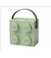LUNCHBOX KLOCEK LEGO® Z RĄCZKĄ (OLIWKOWY)