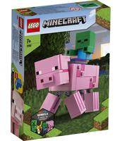 KLOCKI LEGO MINECRAFT MINECRAFT BIGFIG - ŚWINKA I MAŁY ZOMBIE 21157