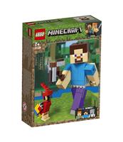 KLOCKI LEGO MINECRAFT MINECRAFT BIGFIG — STEVE Z PAPUGĄ 21148