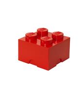 POJEMNIK KLOCEK LEGO® BRICK 4 (CZERWONY)