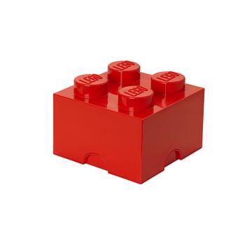 POJEMNIK KLOCEK LEGO® BRICK 4 (CZERWONY) - Selgros24.pl