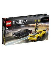 KLOCKI LEGO SPEED CHAMPIONS 2018 DODGE CHALLENGER SRT DEMON ORAZ 1970 DODGE CHARGER R/T 75893