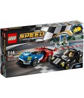 KLOCKI LEGO SPEED CHAMPIONS FORD GT Z ROKU 2016 I FORD GT40 Z ROKU 1966 75881
