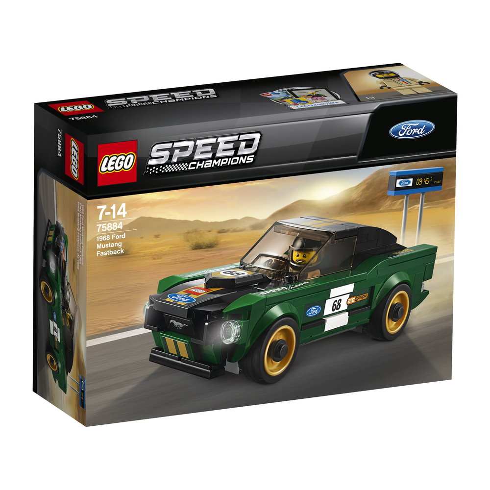 KLOCKI LEGO SPEED CHAMPIONS FORD MUSTANG FASTBACK Z 1968 R. 75884