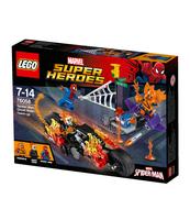 KLOCKI LEGO SUPER HEROES SPIDERMAN ATAK UPIORNYCH JEŹDŹCÓW 76058