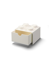 SZUFLADKA NA BIURKO KLOCEK LEGO® BRICK 4 (BIAŁY)