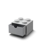 SZUFLADKA NA BIURKO KLOCEK LEGO® BRICK 4 (SZARY)