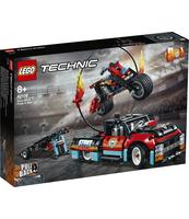KLOCKI LEGO TECHNIC FURGONETKA I MOTOCYKL KASKADERSKI 42106