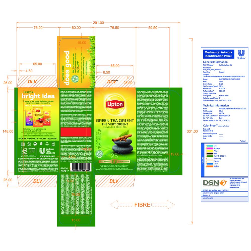 HERBATA LIPTON CLASSIC GREEN TEA ORIENT 25 KOPERT X1,3G