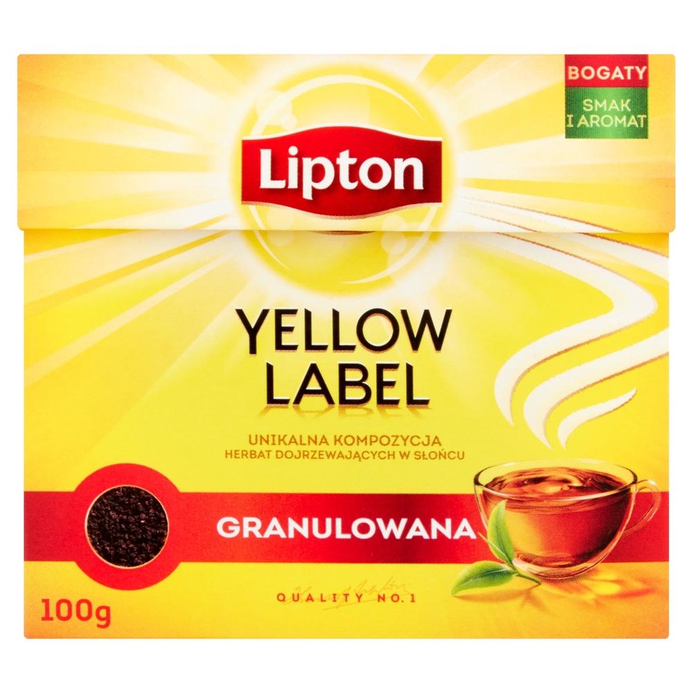LIPTON YELLOW LABEL HERBATA CZARNA GRANULOWANA 100 G