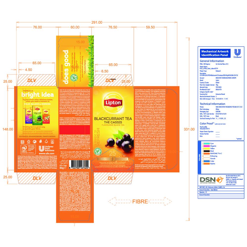LIPTON CLASSIC BLACKCURRANT 25 KOPERT X 1.6G (CZARNA PORZECZKA)