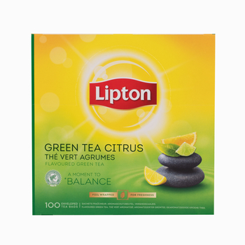 LIPTON CLASSIC GREEN TEA CITRUS 100 KOPERT X1,3G