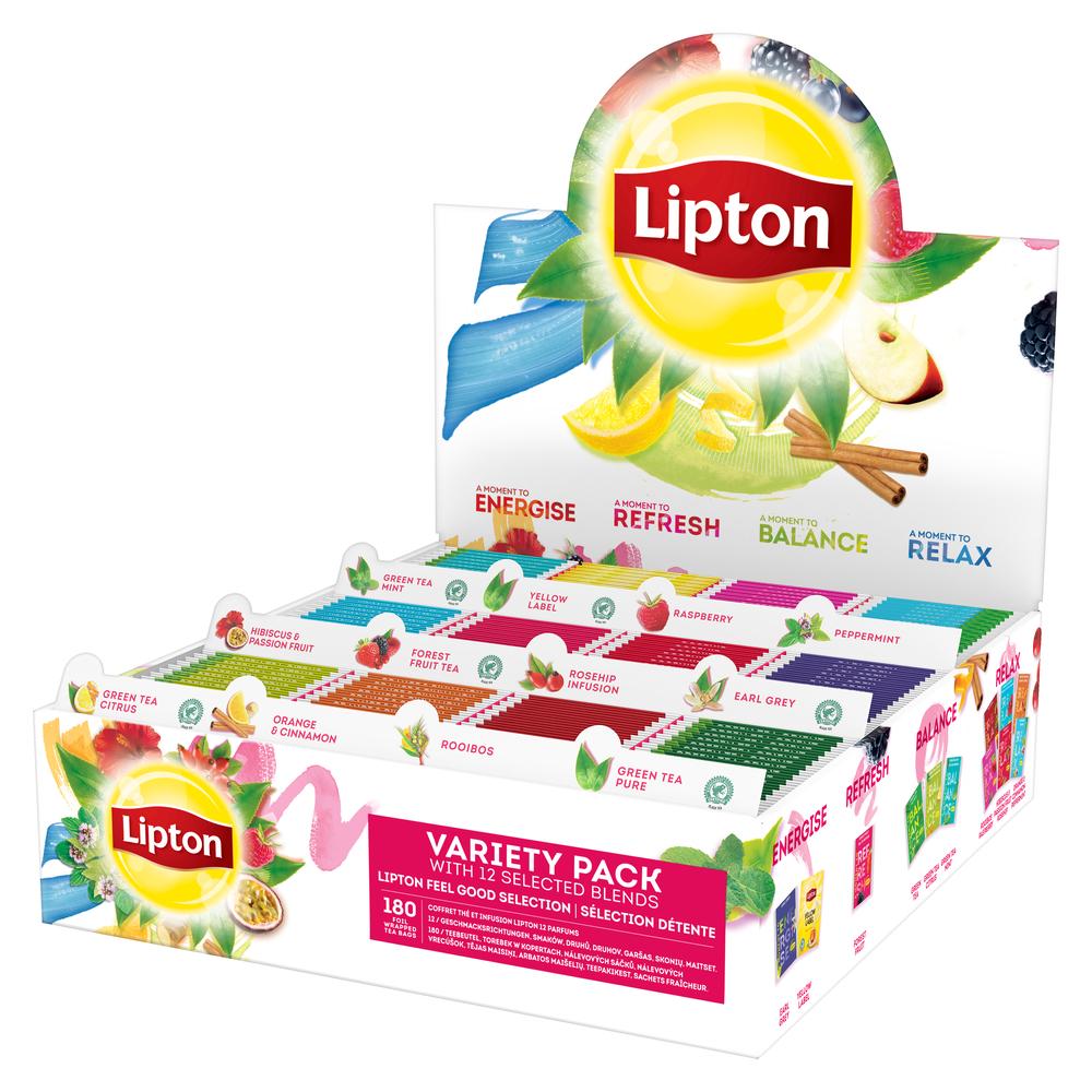 LIPTON CLASSIC VARIETY PACK - 12 SMAKÓW X 15 KOPERT - 315G