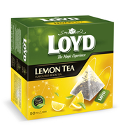 LOYD LEMON BLACK TEA 85 G - 50 PYRAMID TEA BAGS