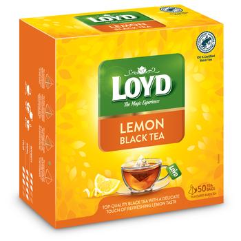 LOYD LEMON BLACK TEA 85 G - 50 PYRAMID TEA BAGS