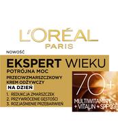 L'OREAL PARIS EKSPERT WIEKU 70+ KREM ODŻYWCZY NA DZIEŃ 50 ML