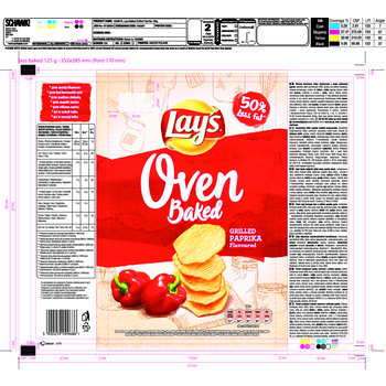 LAYS OVEN BAKED GRILLED PAPRIKA 125G