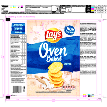 LAYS OVEN BAKED SALTED 125G