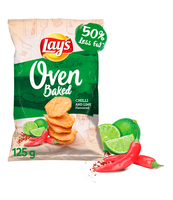 LAY'S OVEN BAKED CHILLI & LIME 125G