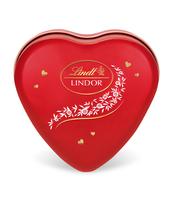 LINDT LINDOR MILK HEART TIN 50G