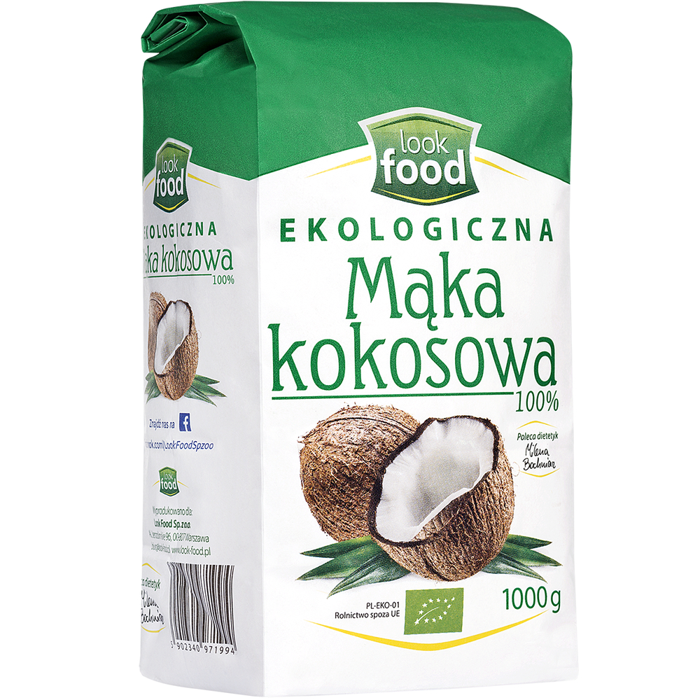 LOOK FOOD MĄKA KOKOSOWA BIO 1000 G