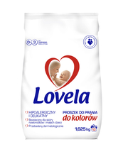 LOVELA PROSZEK DO PRANIA UBRANEK NIEMOWLĘCYCH I DZIECIĘCYCH - DO KOLORÓW- 1,625 KG ( 13 PRAŃ )