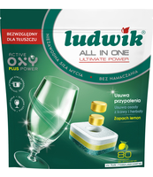 LUDWIK ALL IN ONE TABLETKI DO ZMYWAREK LEMON 80 SZT. DOYPACK