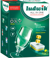 LUDWIK ALL IN ONE TABLETKI DO ZMYWAREK ULTIMATE POWER 120 SZT. - LEMON