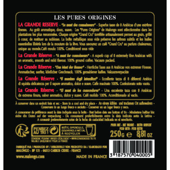 MALONGO KAWA MIELONA LA GRANDE RESERVE 250G