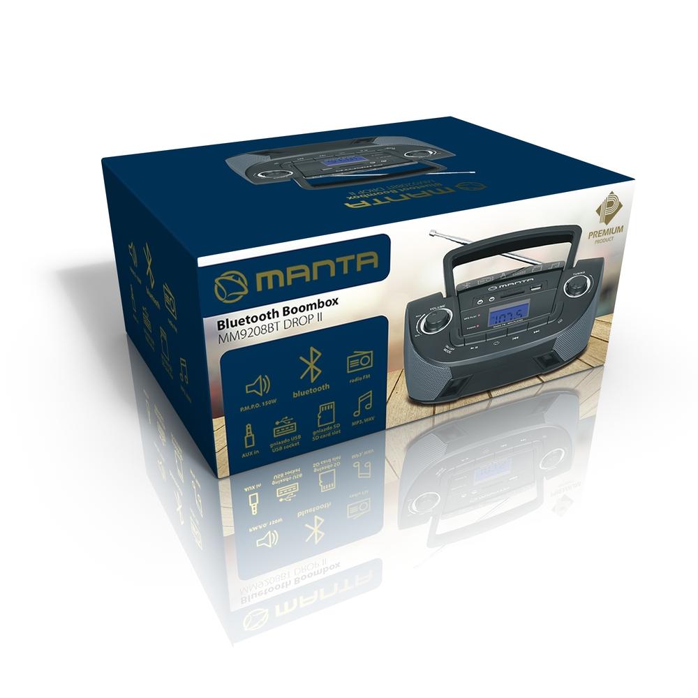 BOOMBOX Z BLUETOOTH MANTA MM9208BT DROP II