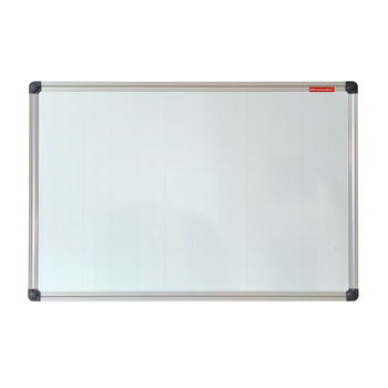 TABLICA SUCHOŚCIERALNO-MAGNETYCZNA W KRATKĘ 170X100 CM RAMA ALUMINIOWA CLASSIC