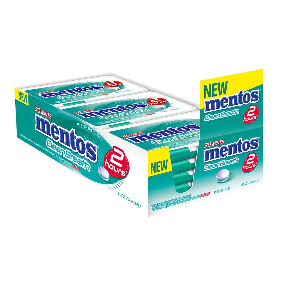 MENTOS 2 HOURS CLEAN BREATH INTENSE MINT 21G