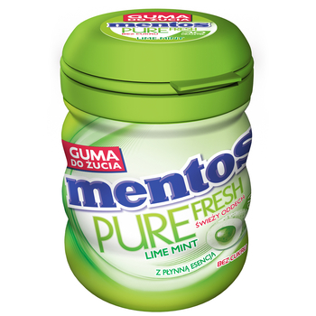 MENTOS PURE FRESH LIME BUTELKA 60G