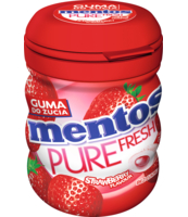 MENTOS PURE FRESH STRAWBERRY BUTELKA 60G
