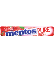 MENTOS PURE FRESH STRAWBERRY ROLKA 15,5G
