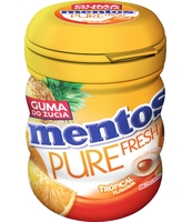 MENTOS PURE FRESH TROPICAL BUTELKA 60G