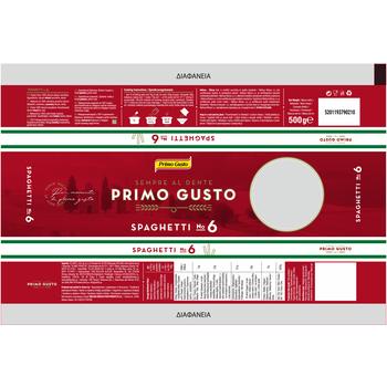 PRIMO GUSTO SPAGHETTI NO.6 500G (24)