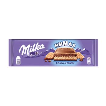 CZEKOLADA MILKA CHOCO & WAFER 300G