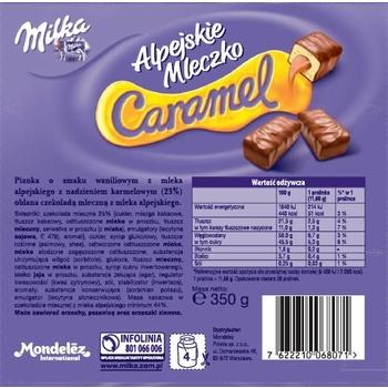 MILKA ALPEJSKIE MLECZKO CARAMEL 350G